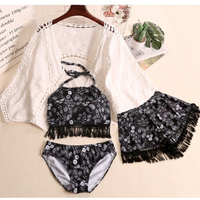 2018 Rushed Hot Sale Korea Holiday Wind Restoring Ancient Ways Sue Swimsuit Female Bud Blouse Cute Bikini Three Or Four Times