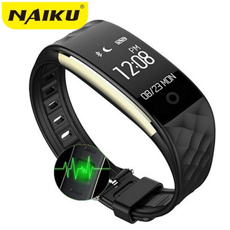NAIKU S2 sport Intelligent Bande poignet Bracelet Bracelet Moniteur De Fréquence Cardiaque IP67 Étanche Bluetooth Smartband Pour iphone Android NK2