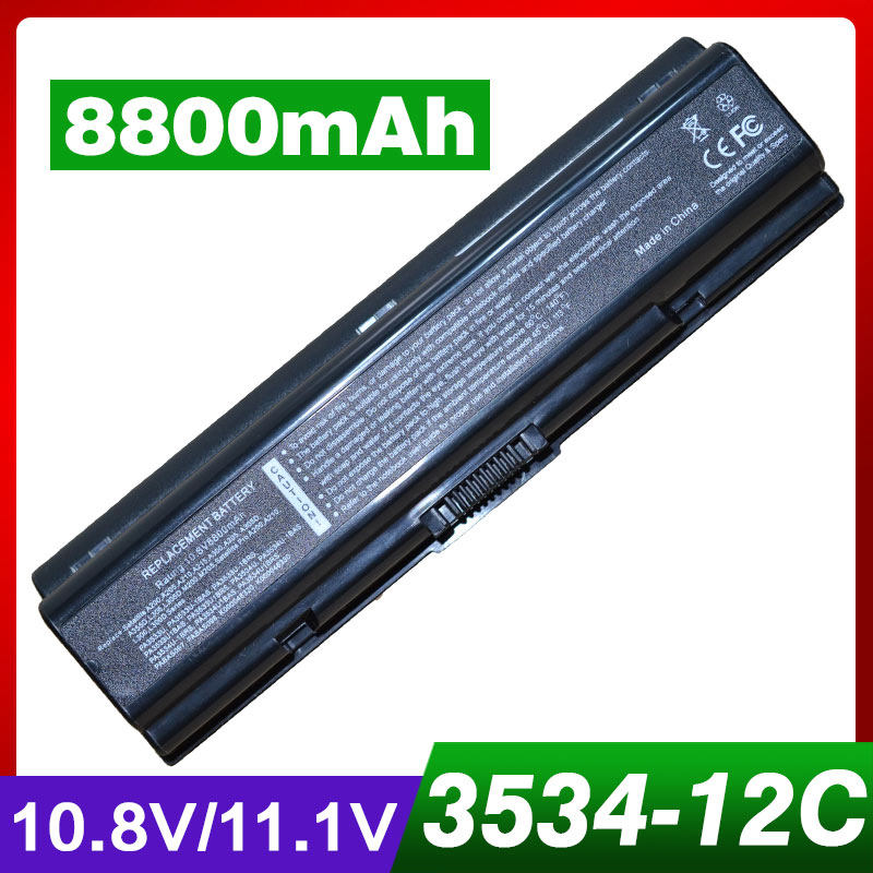 8800mAh laptop battery for TOSHIBA Satellite A305D A350 A350D A355 A355D A500 A500D A505 A505D L200 L300 L300D L305 L305D L350 k000069530 motherboard for toshiba satellite a350 a355 la 4571p ktkaa l44