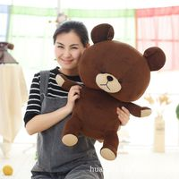 60CM New arrive cartoon cute brown bear Tactic bear doll plush toys pillow Valentine's Day children's birthday gift