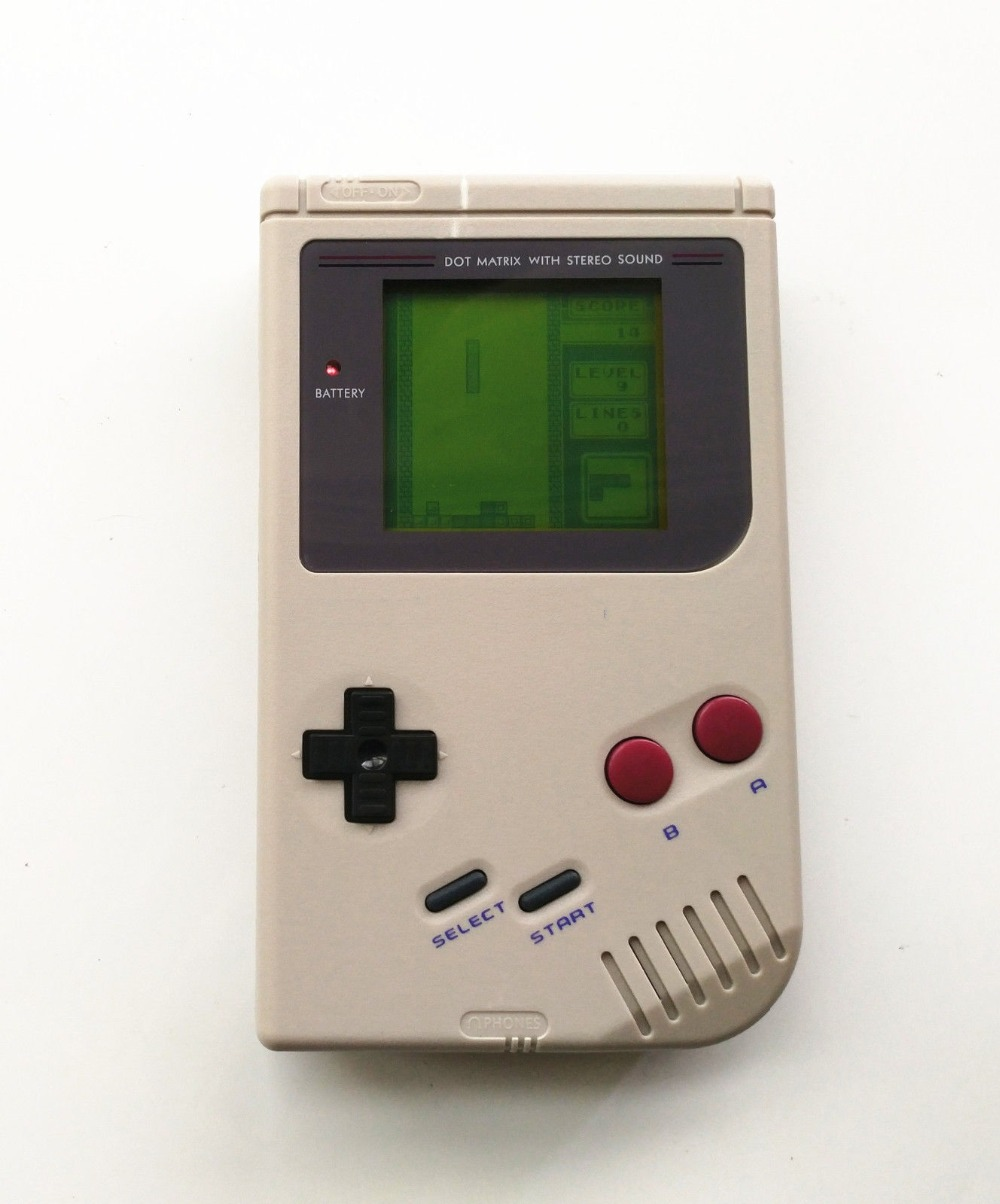 Professionally Refurbished For GameBoy DMG GB Console + Game Card- Grey Game Console
