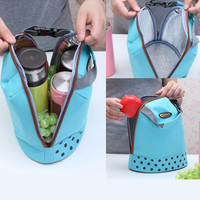 Portable Practical Small Ice Bags 4 Color Polyester Cooler Bag Zipper Lunch Bag Leisure Picnic Packet