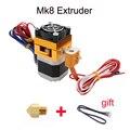 3D Cabeça de Impressão MK8 Extrusora J-cabeça Diâmetro 1.75 Filamento Hotend Bico 0.4mm Entrada de Alimentação Extra Bico + 1 metro do cabo do motor