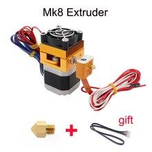 ANYCUBIC 3D Головка Принтера MK8 Экструдер j-глава Hotend Насадка 0.4 мм Корма Входе Диаметр 1.75 Нити Дополнительные Сопла + 1 м кабель