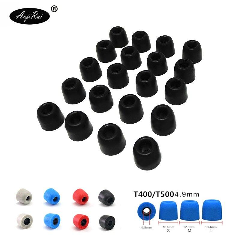 20 pcs/10 pairs. ANJIRUI T500 L 13.5mm 4.9mm Caliber Ear Pads/cap memory ear foam eartips for in ear Headphones tips Sponge Pads