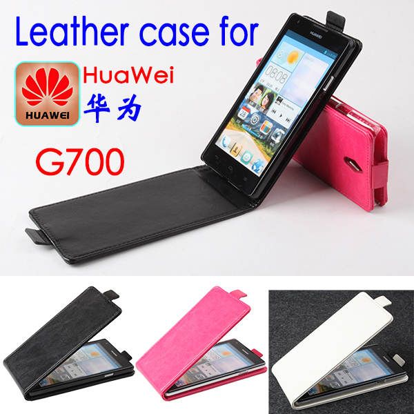 Haute Qualité New Original Pour Huawei G700 Housse En Cuir Flip Couverture pour Huawei G 700 Phone Case Cover En Stock