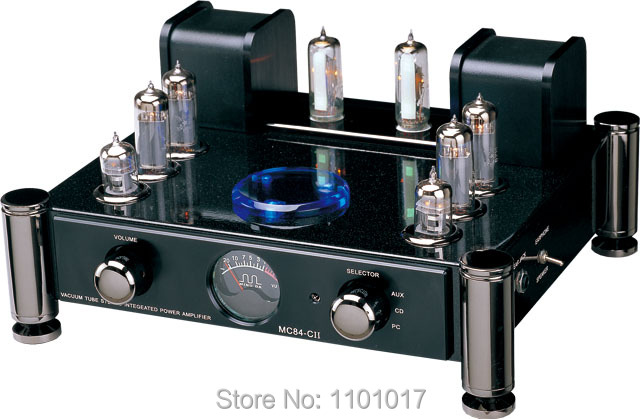MeiXing MingDa MC84-CII Multi-function push-pull EL84 tube amplifier HIFI EXQUIS integrated phone lamp amp remote meixing mingda mc368 b kt88 push pull tube amplifier hifi exquis high power 50wx2 integrated lamp 6n8p 6sn7 amp