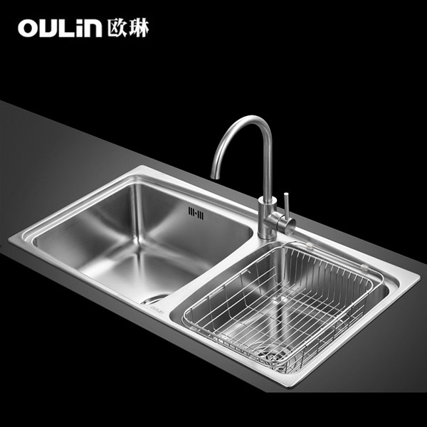 OP5202 slot sink packages containing 304 stainless steel thick-in ...
