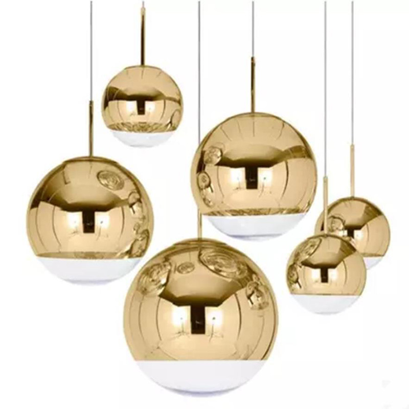 Modern Copper Sliver Glass Shade Silver Inside Mirror Pendant Light E27 LED Pendant Lamp Glass Ball Indoor Living Room LampsModern Copper Sliver Glass Shade Silver Inside Mirror Pendant Light E27 LED Pendant Lamp Glass Ball Indoor Living Room Lamps