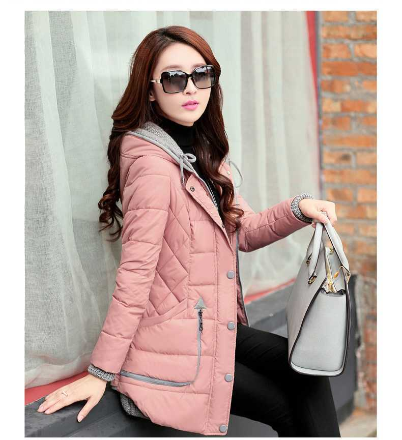Women Parka 2015 Wadded Jacket Female Winter Jacket Women Outerwear Slim Jackets Medium-Long Down Cotton Jacket Overcoat H4112 цены онлайн