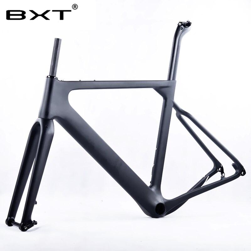 BXT factory outlet T800 Carbone Route VTT Gravier Vélo Cadre axe traversant disque DI2 frein Cyclocross Gravier Carbone Vélo de Cadres