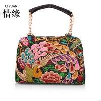 XIYUAN MERK Beknopte en luxe nieuwe collectie Retro borduren hand tas, Mode handgemaakte geborduurde handtassen schoudertas