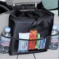 Isolado Car Auto Back Seat Organizador Multi-Bolso Saco de Armazenamento de Viagem Suporte da Bebida com Bolsos de Malha de Tecido Dispensador
