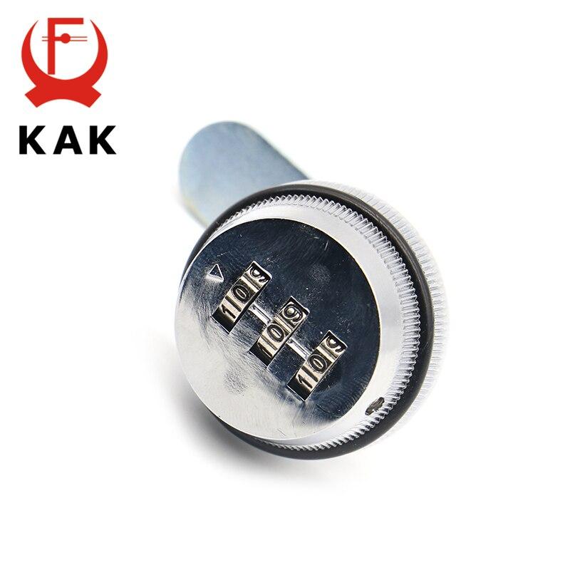 KAK combinación de bloqueo de gabinete negro/plata aleación de Zinc contraseña cerraduras seguridad domótica Cam Lock para puerta de armario de buzón