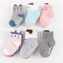 3Pairs/Lot New arrivals Cute Cartoon Cat Infant Baby Socks Cotton Newborn Boys Girls Socks Indoor Anti-Skid Socks for 0-3T
