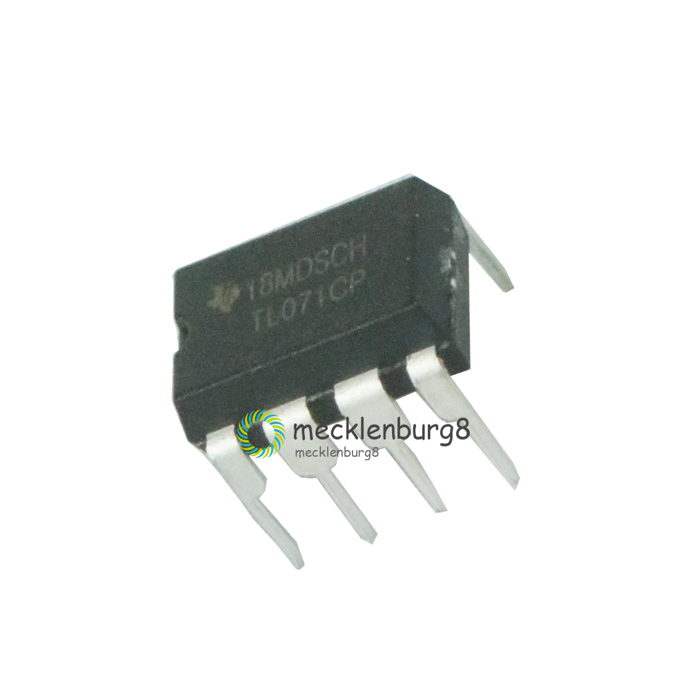 10PCS TL071CP TL071 DIP-8 Low Noise JFET Input Operational Amplifiers TI IC