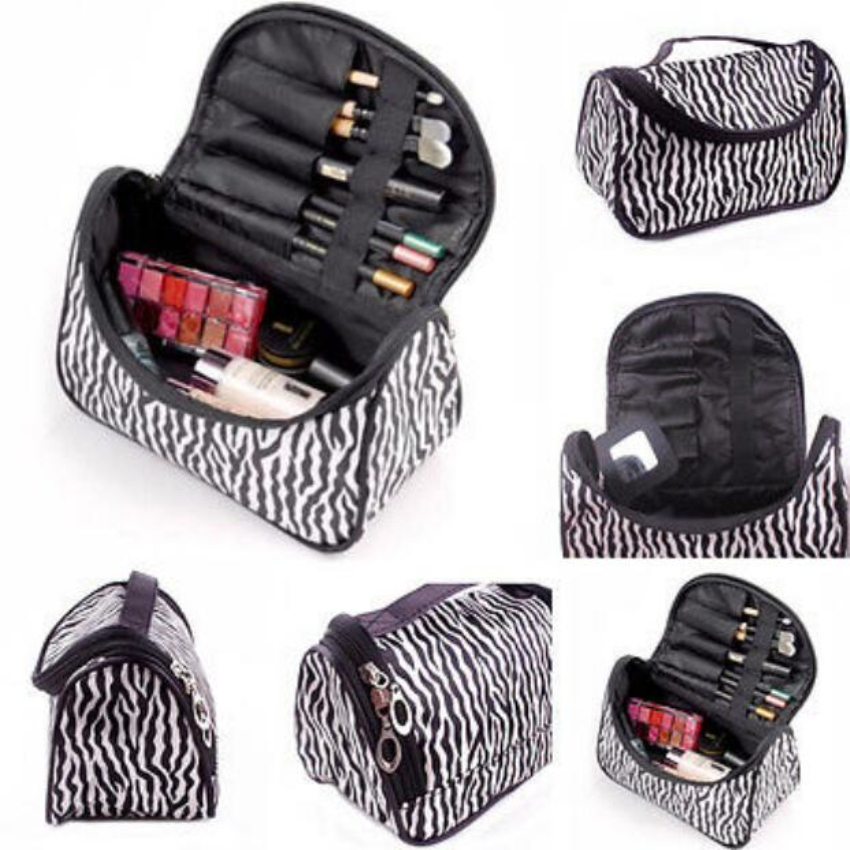 1 Piece Women Hot Leopard Multifunction Cosmetic Bag Travel Makeup Case Pouch Toiletry Zip Wash Tote bo