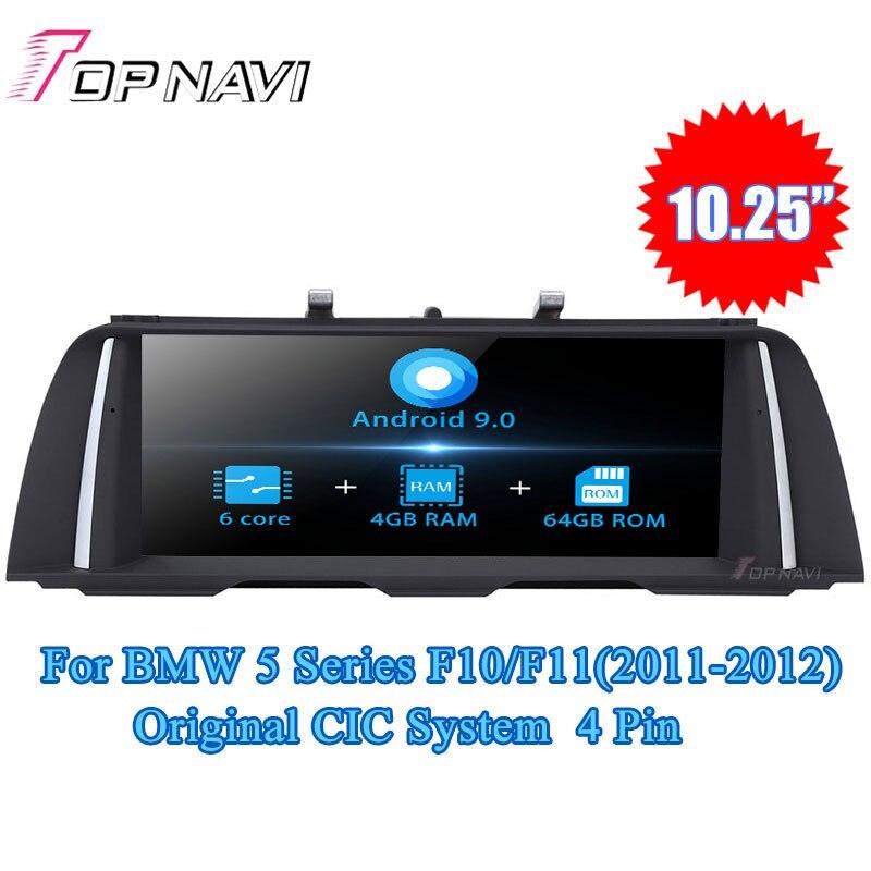 Topnavi Android 9.0 Rádio Do Carro Jogador Auto Para BMW Série 5 F10/F11 (2011-2012) série 5 F10/F11 (2013-2016) GPS de Navegação NÃO DVD