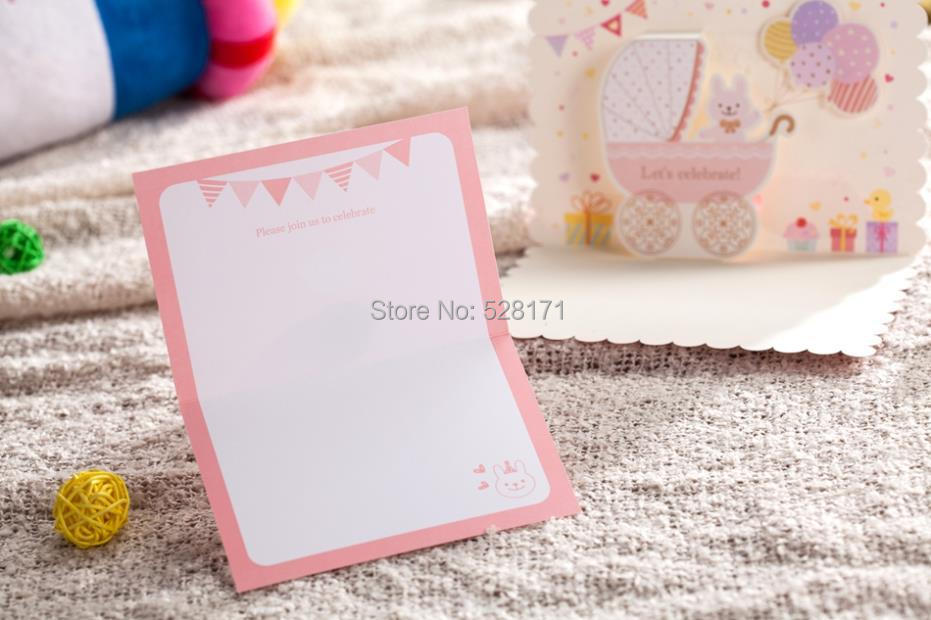 aliexpress : buy free shipping 6pcs/lot lovely invitation, Baby shower invitations