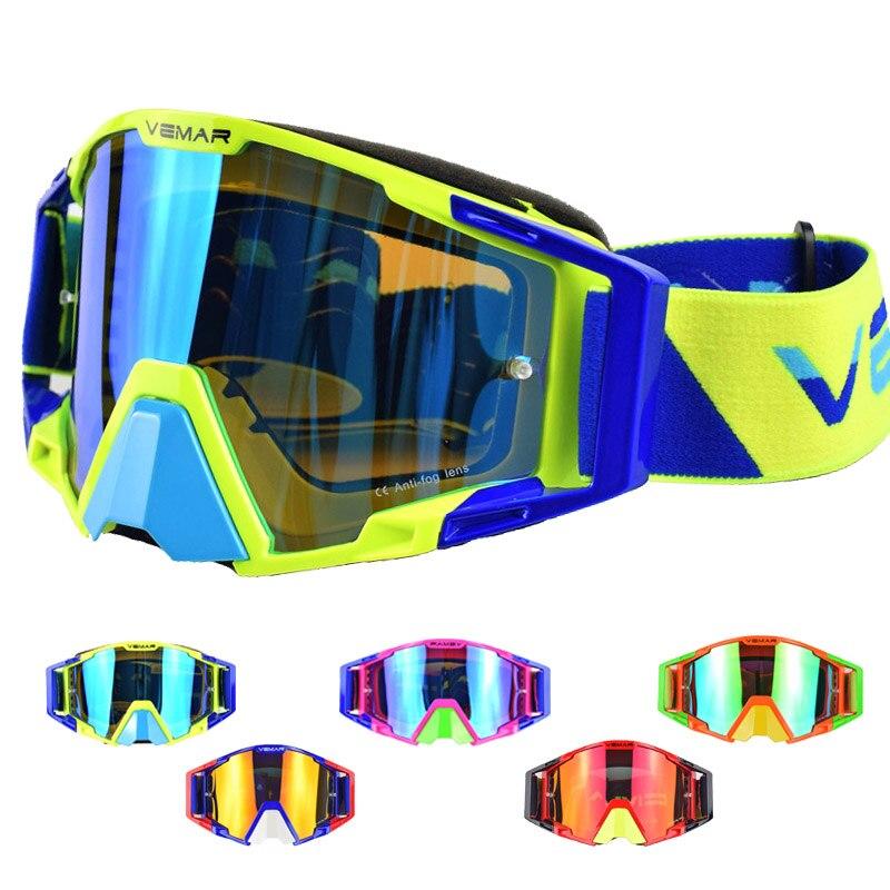 Vemar 7 colors Motorcycle Goggles Skiing women non-slip mortocross DH MTB ATV Dirt Biker racing off road helmets outdoor sports