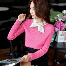 original 2016 new loose casual bow knitted sweater women for autumn winter