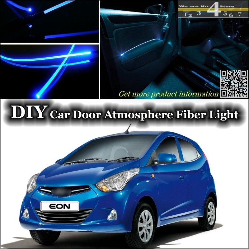 For Hyundai Atos Eon Interior Ambient Light Tuning Atmosphere Fiber Optic  Band Lights Inside Door Panel