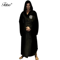 2016 Flannel Robe Male With Hood Thickening Long Design Dressing Gowns Star War Men S Coral