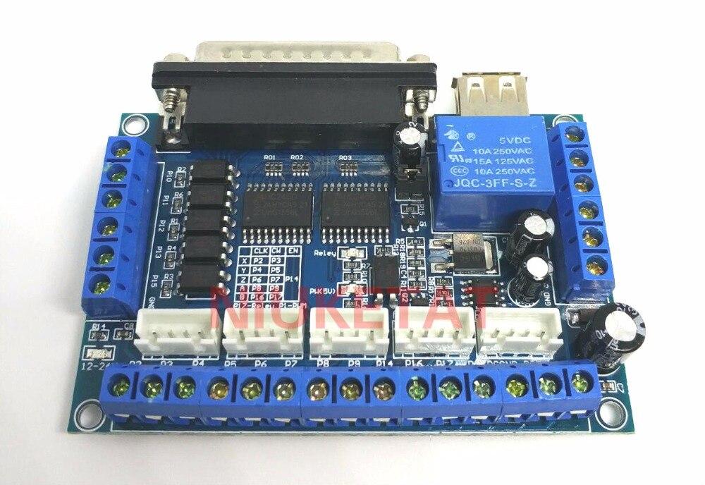 Гравировальный станок MACH3 с ЧПУ, 5 осей, драйвер шагового двигателя, интерфейсная плата с изоляцией оптопары, синяя плата + usb-кабель, 1 шт.