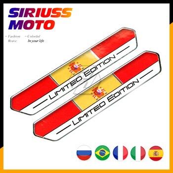 Pegatina de edición limitada para bandera de España, pegatina para tanque de motocicleta, funda para Aprilia Honda Yamaha Suzuki Kawasaki KTM Ducati, etc.