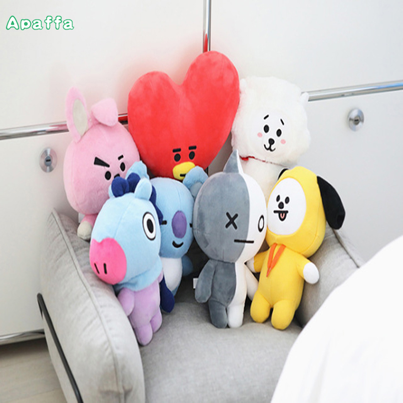 Plush Doll New Kpop Bangtan Boys BTS bt21 Vapp Same Pillow Plush Cushion Warm Bolster Q Back Doll TATA VAN COOKY CHIMMY SHOOKY