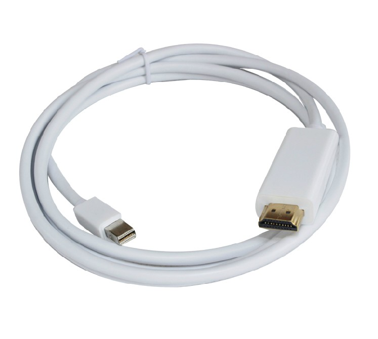 1.8M/6FT Golden Plated Thunderbolt Displayport Mini Display Port/DP to HDMI Male Adapter cable For Apple Macbook Mac Air Pro orico mph mini dp to hdmi adapter to thunderbolt cable displayport display port for apple macbook air pro imac mac