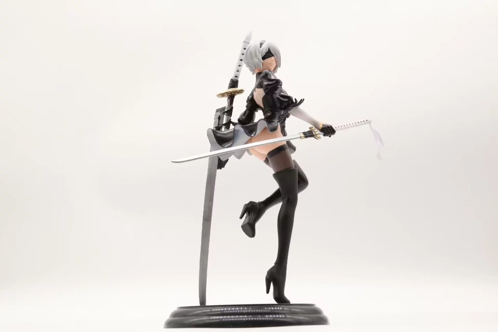NieR Automata YoRHa No. 2 Type B sexy girl 2B Game Anime Action Figure PVC New Collection figures toys Collection 25cm bikini warriors valkyrie japanese anime action figure pvc collection figures toys collection
