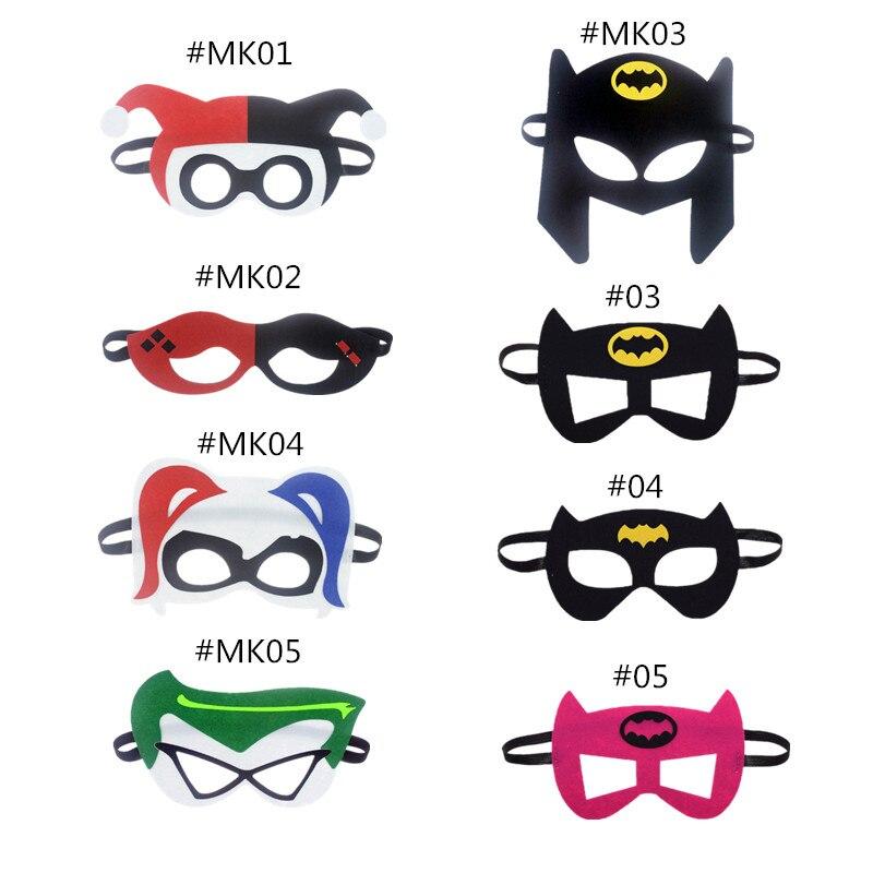 Mask Harley Quinn Joker DC Super Hero Batman Mask Kids Gift Costume Star Wars Xmas Avengers DIY Masquerade Eye Mask Cosplay DIY