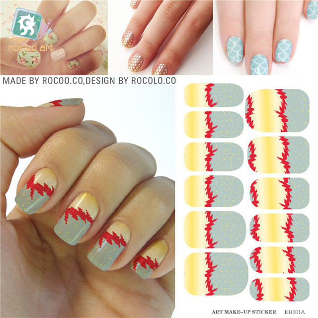 new hot halloween nail art sticker applique full cover water adhesive foil for nails art solvent