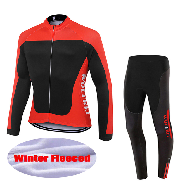 WOLFKEI New Arrival Winter thermal fleece cycling Clothing sets Outdoor  Mountain bike Sports jersey Kits ropa ciclismo  WK2525 f54834691