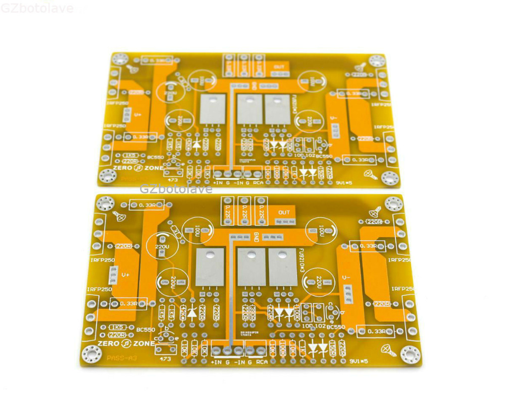 Free ship PASS A3 single ended class a amplifier empty board PCB (2 boards)