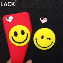 LACK Shell For Apple iPhone 6 6S 4.7 inch/ Plus 5.5 Case Funny Smile Face Love Heart Couple Soft Cover Phone Bags Capa Fandas