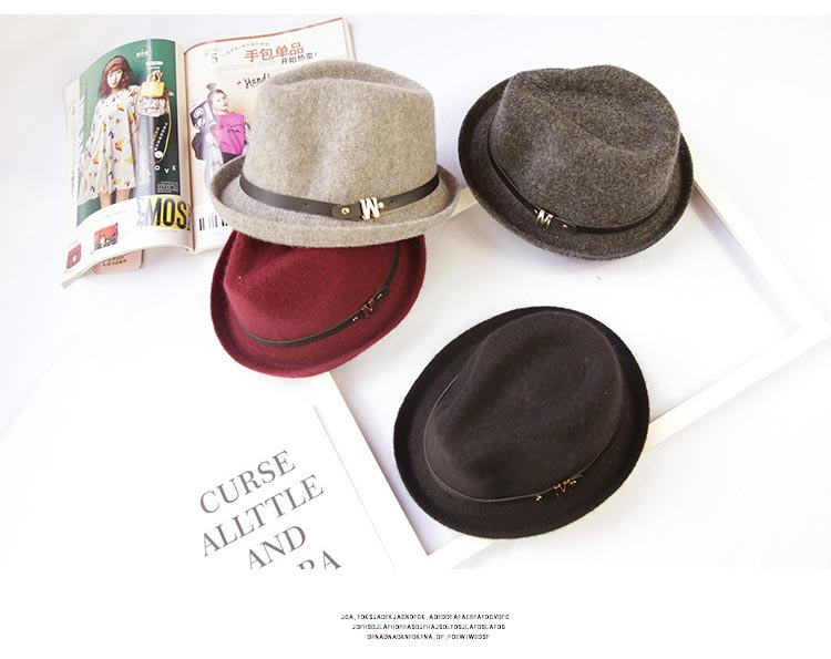 34b788c13c3 Children Unisex Woolen Blend Snap Brim Flat Top Fedora Hat Trilby Kids  Panama Jazz Caps Boy Girl Hats -in Fedoras from Apparel Accessories on  Aliexpress.com ...
