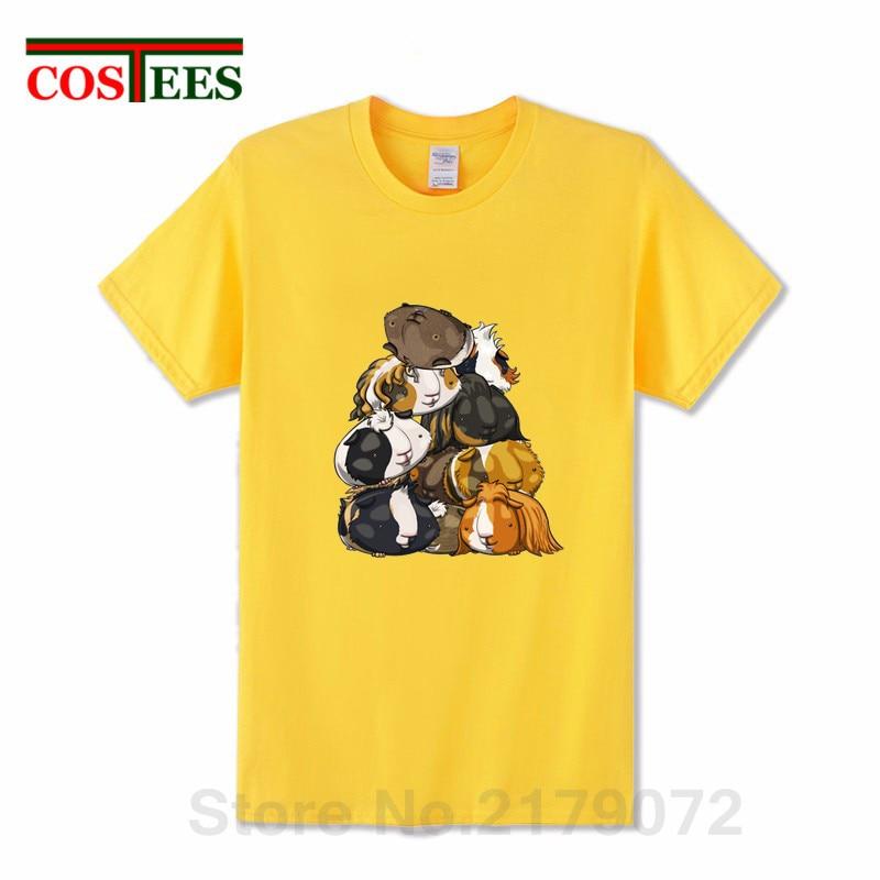 f9877b68 Kawaii Pile O' Guinea Pigs T Shirt Men Cute Guinea Pigs stack funny men's T- shirt homme animal printed harajuku Tops Hipster Tee