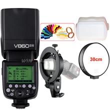 Godox V860II-N 2.4G i-TTL HSS 1/8000 Camera Flash Speedlite+Bowens S-Type Bracket for Nikon D3300 D3200 D810 D750 D500 D5 D4s цена и фото