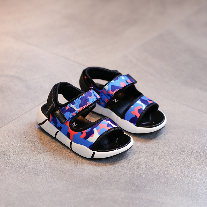 2018 New Children shoes Genuine Leather Sandal Kids amouflage Sandals Boys Summer Sandals Casual comfortable summer Beach shoes