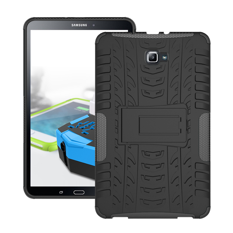 Hybrid Stand Hard PC+TPU Rubber Armor Case Cover For Samsung Galaxy Tab A A6 2016 10.1 SM-T580 T585 T580N sturdy Protective Case