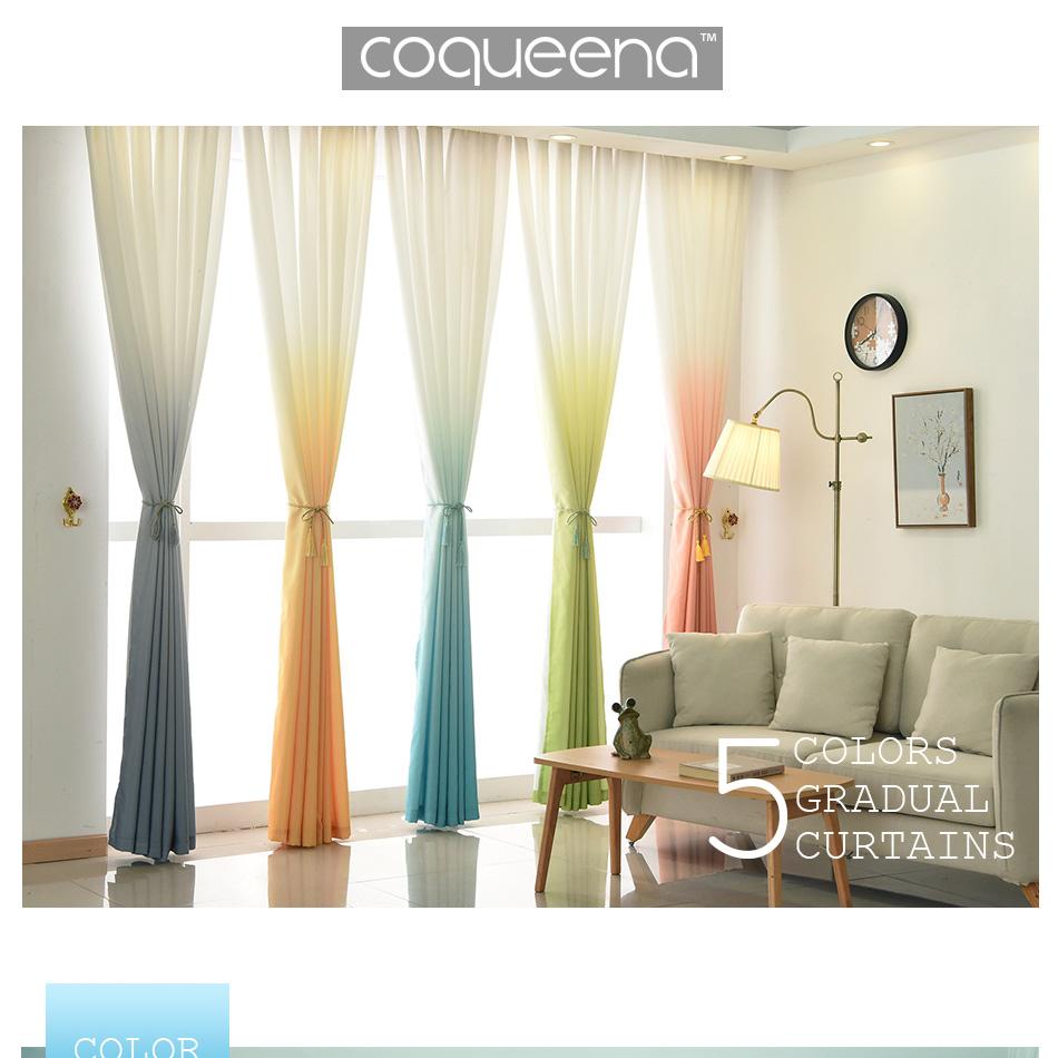 Window Curtains for Living Room Bedroom Kitchen Home Decor Modern ...