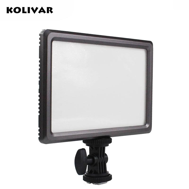 KOLIVAR Thin Luxpad22 DSLR Camera Video LED Light Bi-Color 3200K/5600K Photography Lighting For Canon Nikon Camera Camcorder цена и фото