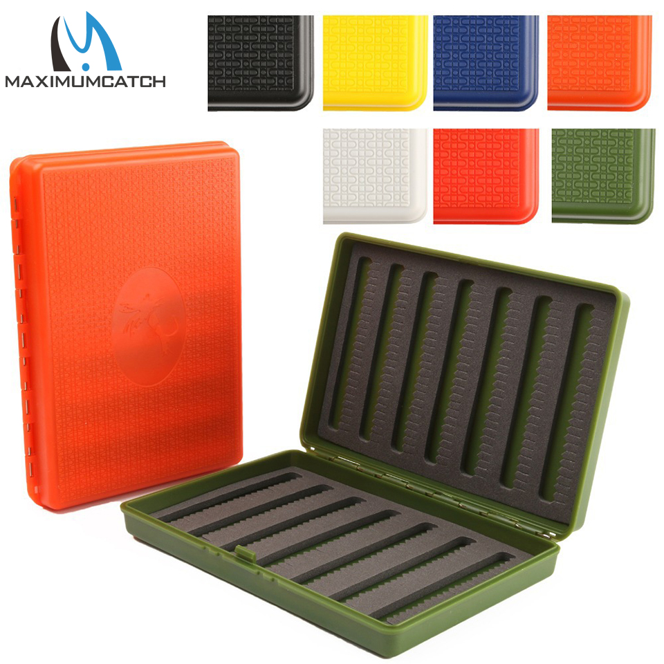 Maximumcatch 156*108*28mm Slim Pocket Plastic Waterproof Fly Fishing Box 7 Colors For Choose zipper fly pocket distressed straight leg jeans page 7