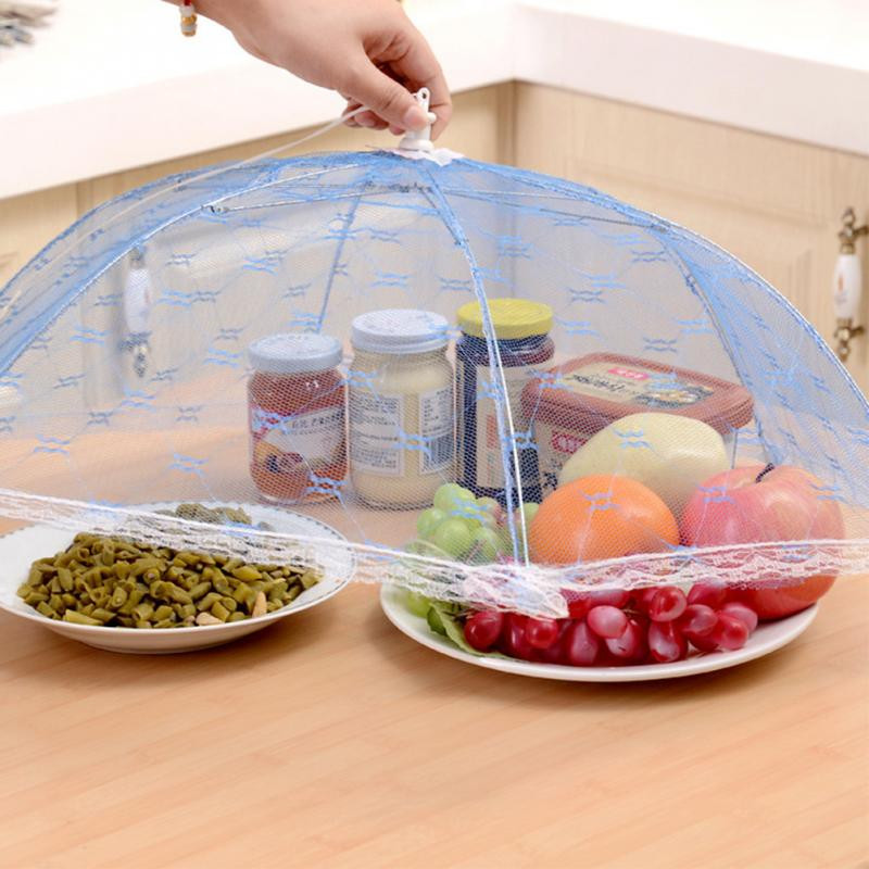 Umbrella Style Food Covers Anti Fly Mosquito Meal Cover Lace Table