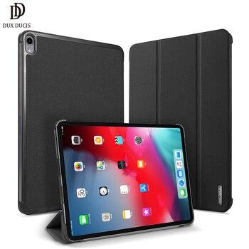705beb8fdc2 Funda de cuero DUX DUCIS PU para ipad Pro 11 2018 soporte magnético funda  inteligente para ipad Pro 11 pulgadas 2018 funda de mesa protectora A1980