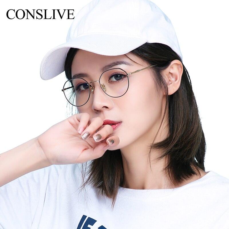 Lunettes de Prescription optiques lunettes anti-rayures myopiques femmes rondes myopie lentille cadre avec lentille en résine