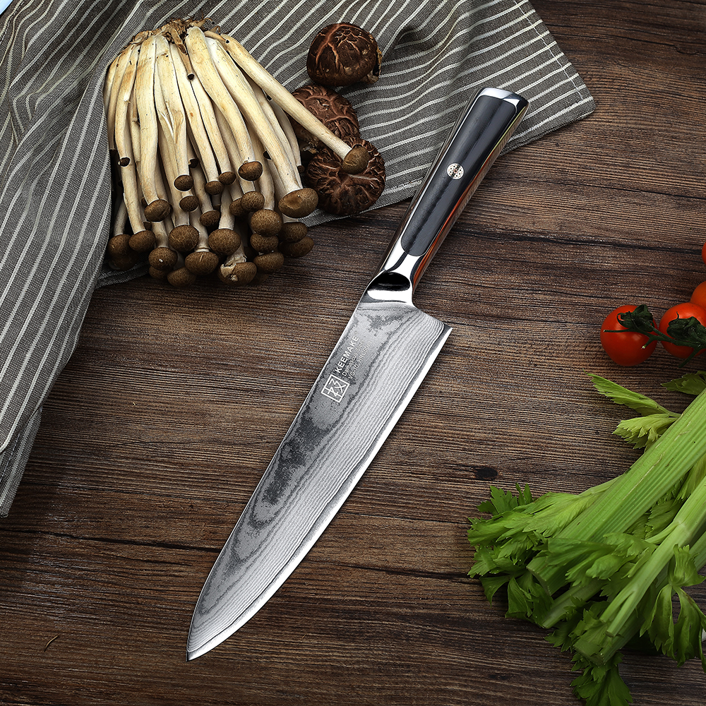 KEEMAKE 8 quot inch Chef Knife Kitchen Knives Professional Damascus Japanese VG10 Steel Sharp Blade 60HRC G10 Handle Cutting Tools in Kitchen Knives from Home amp Garden