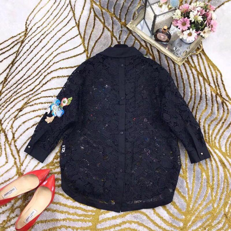 Blouses Al0165 amp; Design Partie 2019 Piste Européenne Chemises Style Luxe Vêtements De Mode Femmes gZqgwAT